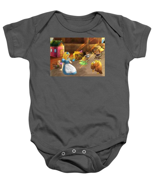 Tammy And Friends In The Backyard Baby Onesie
