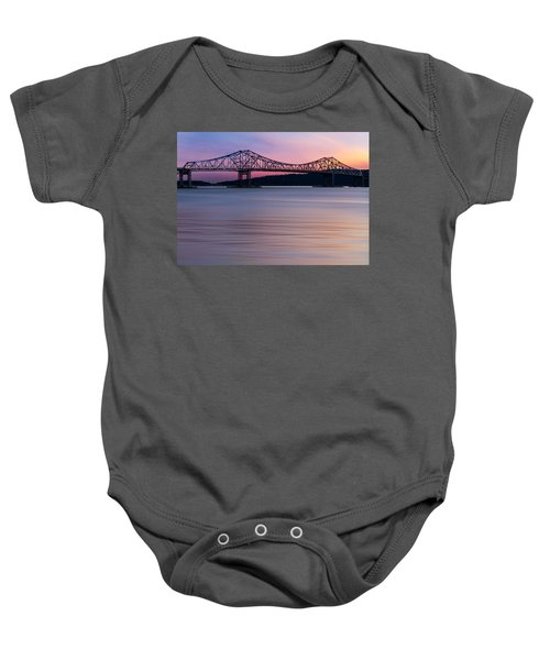 Tappan Zee Bridge Sunset Baby Onesie