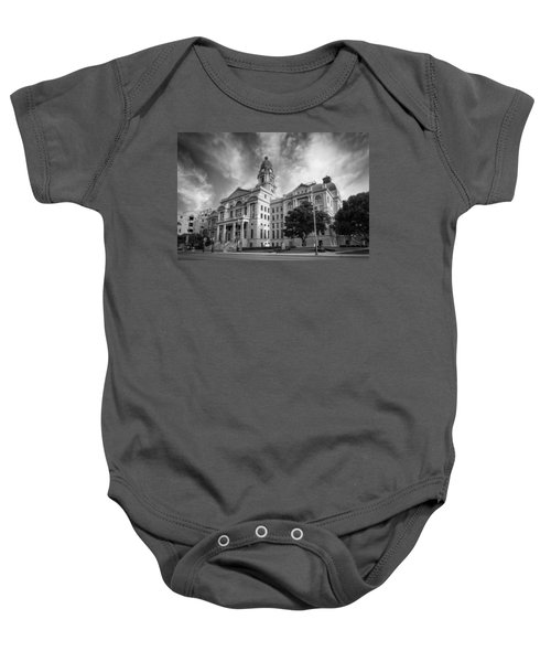 Tarrant County Courthouse Bw Baby Onesie
