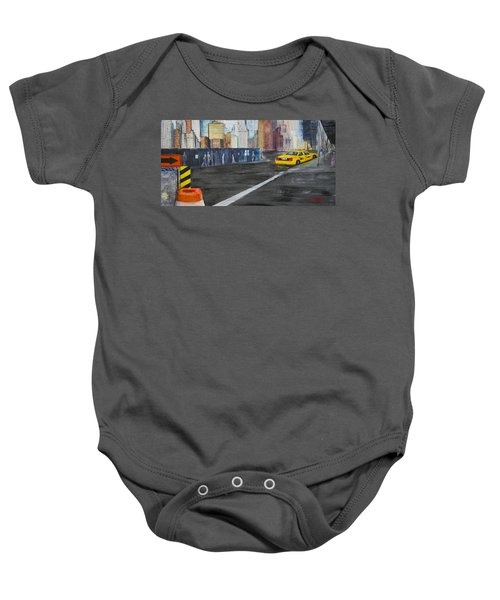 Taxi 9 Nyc Under Construction Baby Onesie