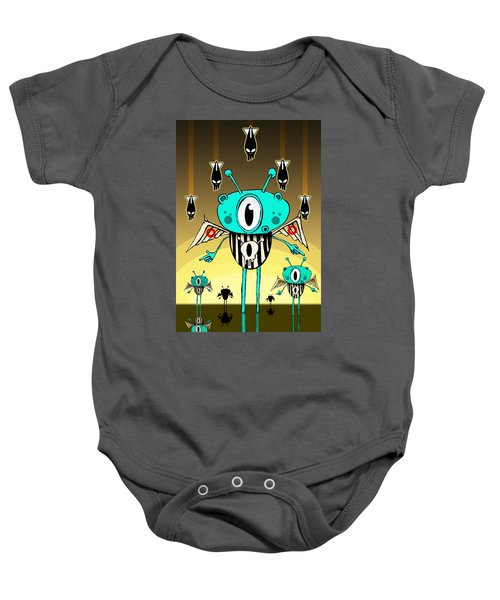 Team Alien Baby Onesie by Johan Lilja
