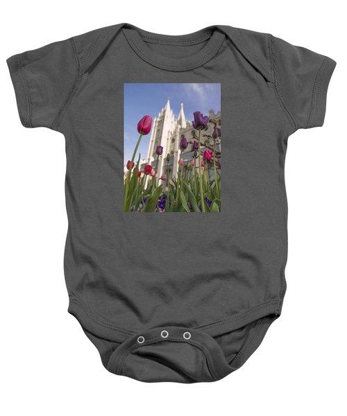 Temple Tulips Baby Onesie