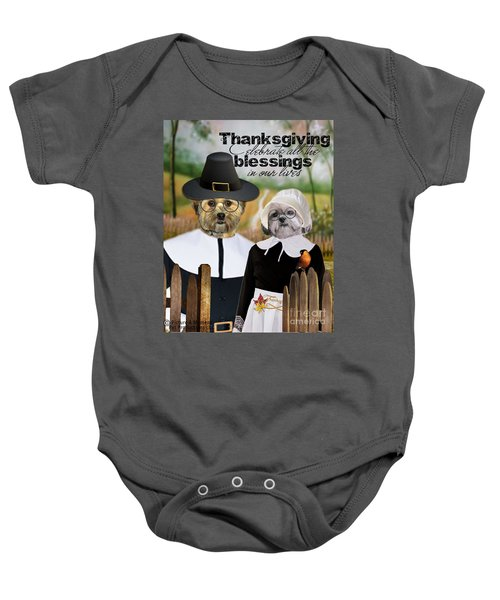 Thanksgiving From The Dogs Baby Onesie
