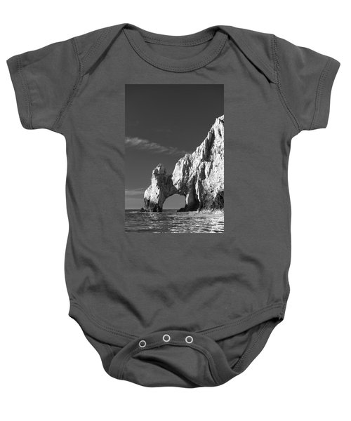 The Arch In Black And White Baby Onesie