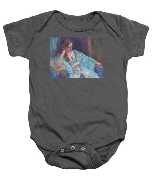 Inner Light - Original Impressionist Painting Baby Onesie