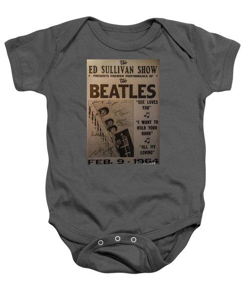 The Beatles Ed Sullivan Show Poster Baby Onesie