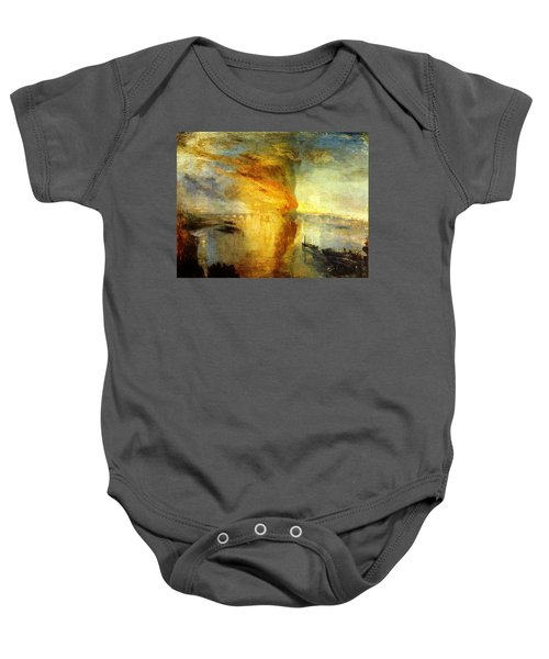 The Burning Of The Houses Of Lords And Commons Baby Onesie