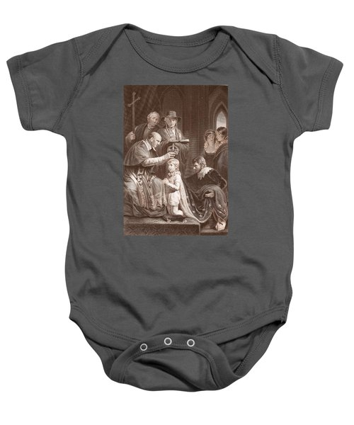 The Coronation Of Henry Vi, Engraved Baby Onesie