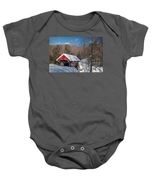 The Flume Bridge In Winter Baby Onesie