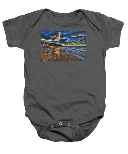 the golden hour during sunset at Israel Baby Onesie