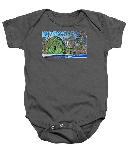 The Green Barn Baby Onesie
