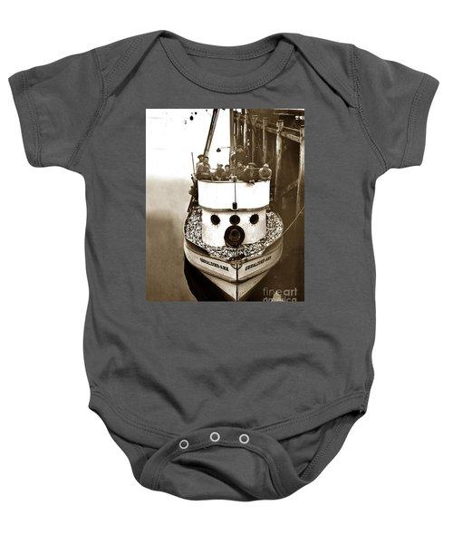 The Happy Crew Of The Fishing Boat  Geraldine- Ann Monterey California 1939 Baby Onesie