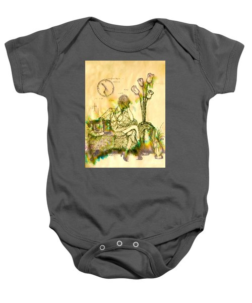 The Hold Up Sepia Tone Baby Onesie