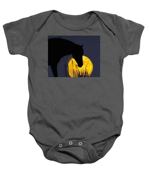 The Horse In The Moon Baby Onesie