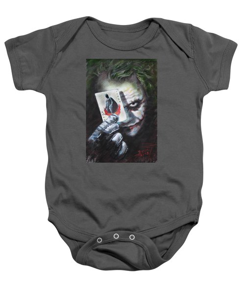 The Joker Heath Ledger  Baby Onesie by Viola El