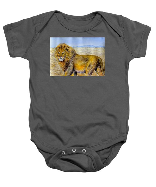The Lion Rules Baby Onesie