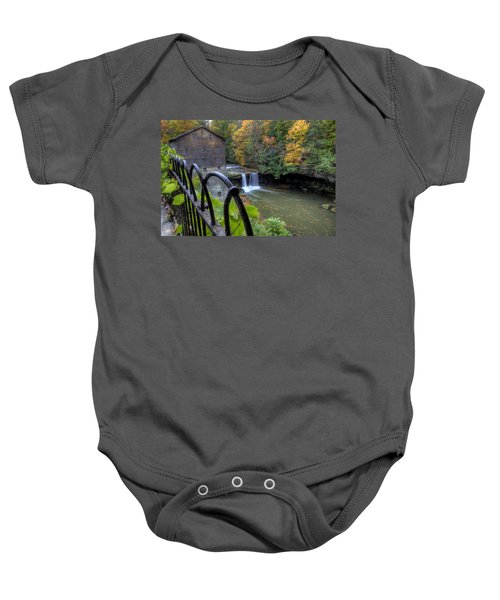 The Mill And Falls At Mill Creek Park Baby Onesie