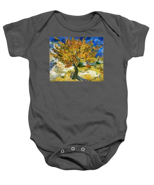 The Mulberry Tree After Van Gogh Baby Onesie