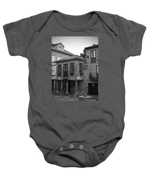 The Old Firewood Marketplace Bw Baby Onesie