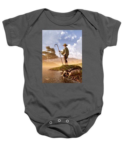 The Old Swineherd Baby Onesie