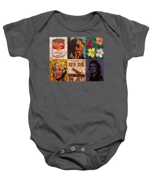 The Six Warhol's Baby Onesie