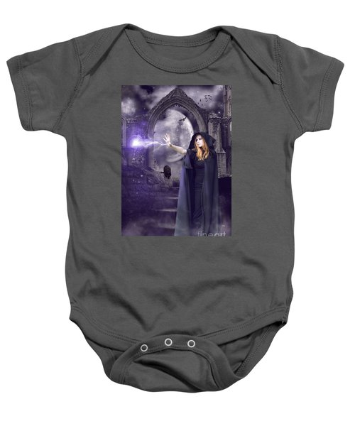 The Spell Is Cast Baby Onesie by Linda Lees