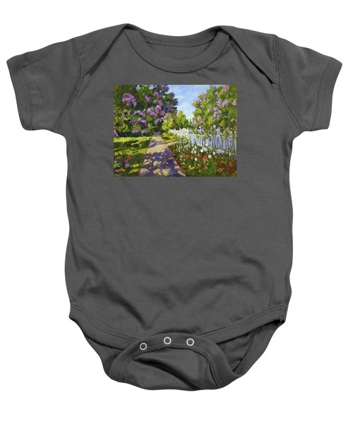 The White Fence Baby Onesie