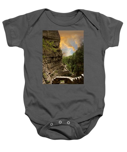 The Winding Trail Baby Onesie