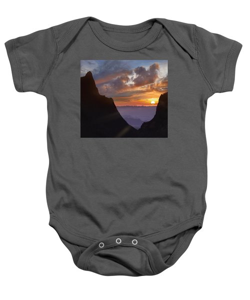 The Window At Sunset Big Bend Np Texas Baby Onesie