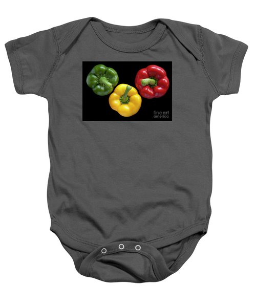 Three Colors Baby Onesie