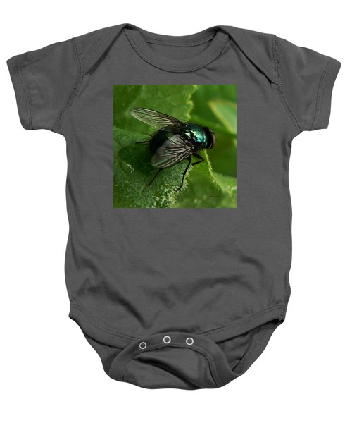 To Be The Fly On The Salad Greens Baby Onesie