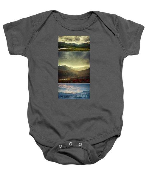 Tombstone Range Seasons Vertical Baby Onesie