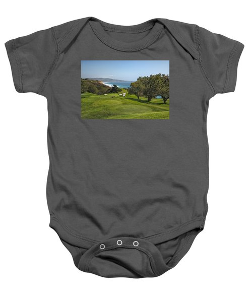 Torrey Pines Golf Course North 6th Hole Baby Onesie by Adam Romanowicz