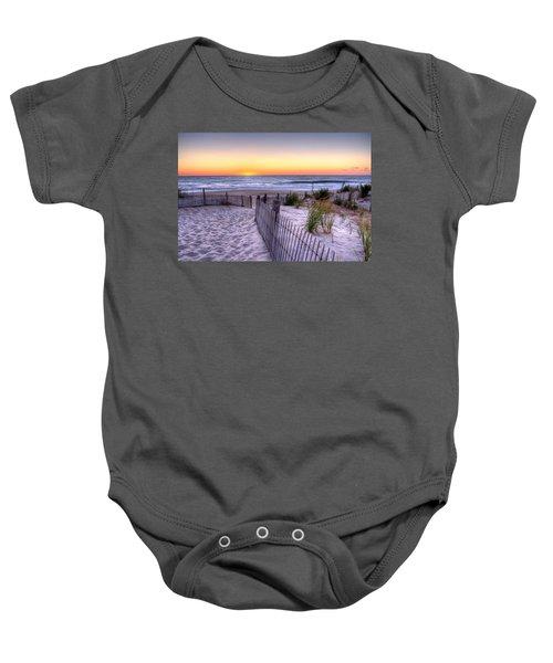 Tower Beach Sunrise Baby Onesie