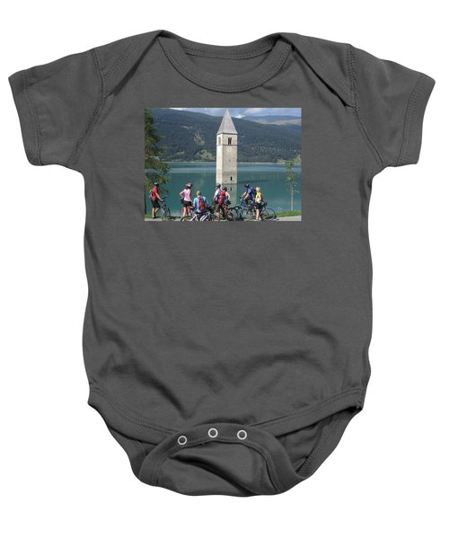 Tower In The Lake Baby Onesie