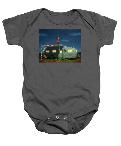 Trailer House Christmas Baby Onesie