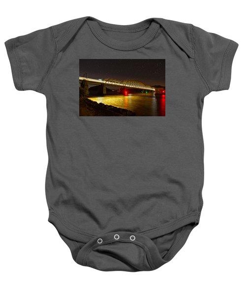 Train Lights In The Night Baby Onesie