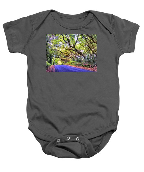 Tree Tunnel On The Big Island Baby Onesie