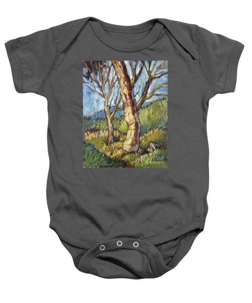 Trees In Spring Baby Onesie