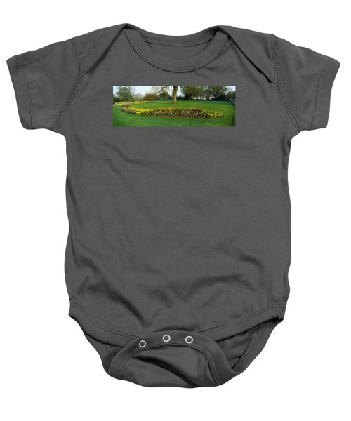 Tulips In Hyde Park, City Baby Onesie by Panoramic Images