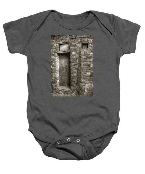 Tuscan Doorway Baby Onesie