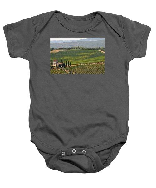 Tuscan Hillside Baby Onesie