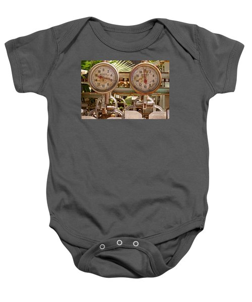 Two Farm Scales Baby Onesie