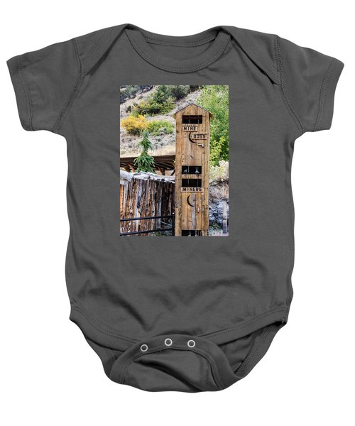 Two-story Outhouse Baby Onesie