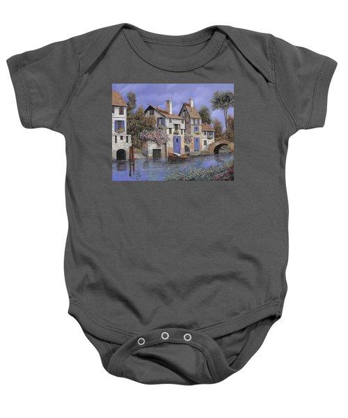 Un Borgo Tutto Blu Baby Onesie