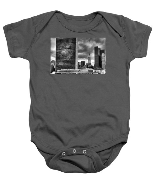 United Nations And Chrysler Building Baby Onesie