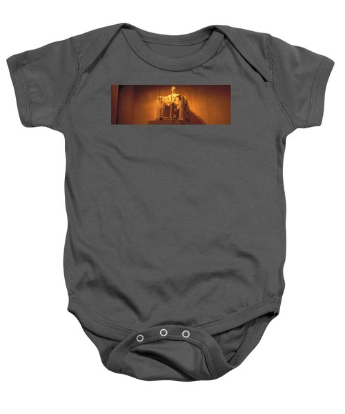 Usa, Washington Dc, Lincoln Memorial Baby Onesie by Panoramic Images