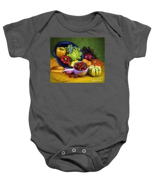 Veggie Bowl  Baby Onesie