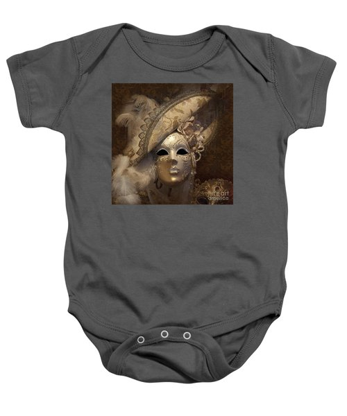 Baby Onesie featuring the photograph Venetian Face Mask F by Heiko Koehrer-Wagner