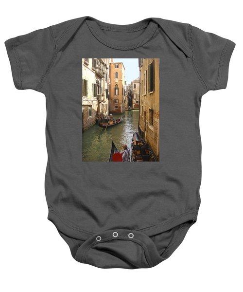 Venice Gondolas Baby Onesie